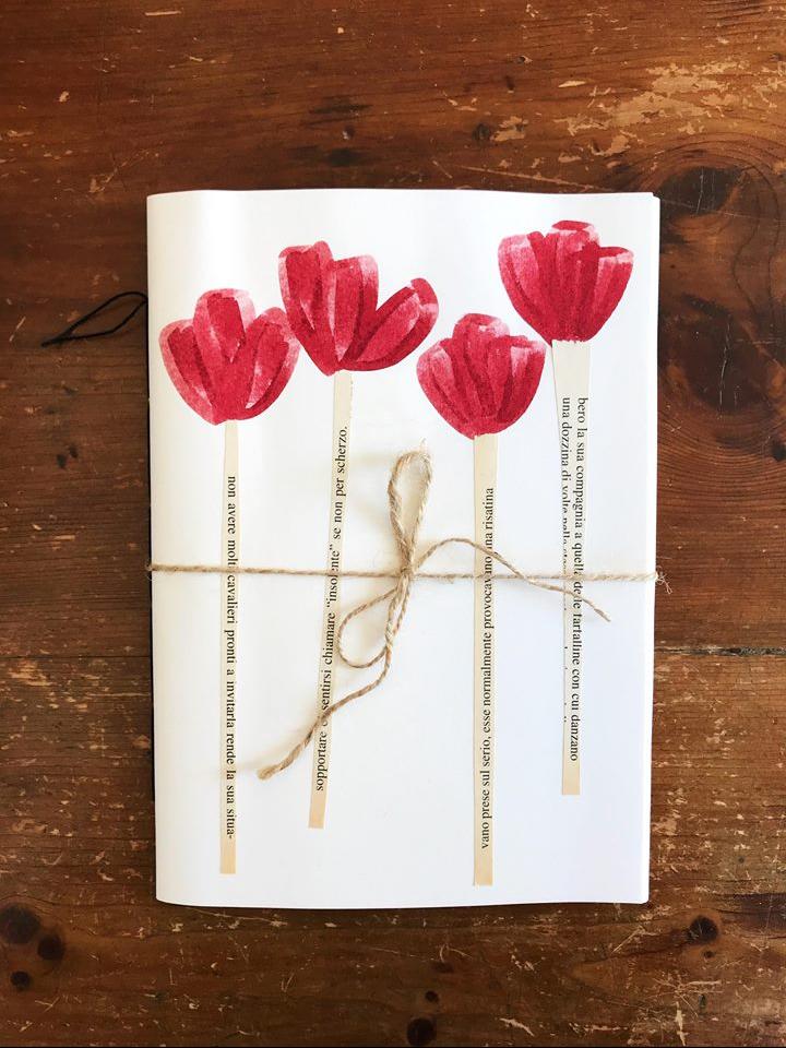 quaderno petì lab fiori rossi rossi